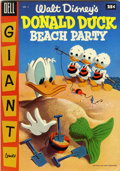 Golden Age (1938-1955):Funny Animal, Dell Giant Comics - Donald Duck Beach Party #2 (Dell, 1955)Condition: FN/VF....