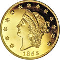 "S.S.C.A. Relic Gold Medals, 1855 $50 SSCA Relic Gold Medal ""1855 Kellogg & Co. Fifty"" Gem Proof PR PCGS...."