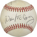 Autographs:Baseballs, Willie Mays and Willie McCovey Dual-Signed Baseball....