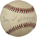 Autographs:Baseballs, 1950's Rogers Hornsby Single Signed Baseball....