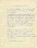 Music Memorabilia:Autographs and Signed Items, Bruce Springsteen Unpublished Handwritten Lyrics....