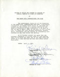 Music Memorabilia:Autographs and Signed Items, Beach Boys Autographed Document....
