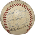 Autographs:Baseballs, 1949 St. Louis Cardinals Team Signed Baseball....