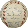Autographs:Baseballs, 1953 St. Louis Cardinals Team Signed Baseball....