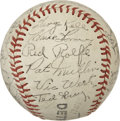 Autographs:Baseballs, 1951 Detroit Tigers Team Signed Baseball....