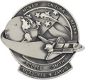 Explorers:Space Exploration, Space Shuttle Challenger (STS-51L) Unflown Silver RobbinsMedallion from the Personal Collection of Astronaut Char...
