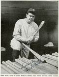 "Autographs:Others, Circa 1934 Babe Ruth Signed ""Baseball Magazine"" Photograph...."