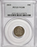 Bust Dimes: , 1833 10C VG8 PCGS. PCGS Population (1/249). NGC Census: (3/244).Mintage: 485,000. Numismedia Wsl. Price for NGC/PCGS coin ...