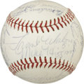 Autographs:Baseballs, 1961 Boston Red Sox Team Signed Baseball....