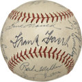 Autographs:Baseballs, 1949 Chicago Cubs Team Signed Baseball....