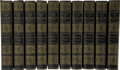 Books:First Editions, [Walter Scott.] John Gibson Lockhart. Memoirs of the Life of SirWalter Scott - In Ten Volumes. Boston and New Y... (Total: 10Items)