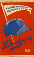 Autographs:Others, 1957 Brooklyn Dodgers Team Signed Program....
