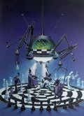 Pulp, Pulp-like, Digests, and Paperback Art, DENIS BEAUVAIS (American b.1962). 3-D Chess, Dragon magazine #89cover, September 1984. Acrylic on board. 38 x 27 in.. I...