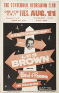 Music Memorabilia:Posters, Les Brown and his Band of Renown Concert Poster (c. 1959)....