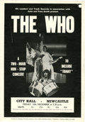 Music Memorabilia:Posters, The Who City Hall Newcastle Handbill (Kit Lambert, 1969)....