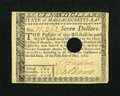 Colonial Notes:Massachusetts, Massachusetts May 5, 1780 $7 Very Fine....