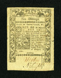 Colonial Notes:Rhode Island, Rhode Island May 1786 10s Extremely Fine....