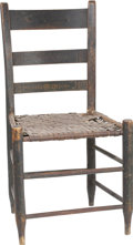 Political:Presidential Relics, [Abraham Lincoln] A Chair Used in the Lincoln & Herndon Law Offices in Springfield, Illinois. A country side chair with wove...