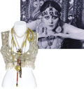 Movie/TV Memorabilia:Costumes, Theda Bara Cleopatra Necklaces and Pearl Halter Top. ...