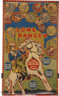 Memorabilia:Comic-Related, Lone Ranger/Midway Two-Sided Target Practice Game Board (Louis Marx, 1938).... (Total: 2 Illustration Art)
