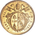 Italy:Papal States, Italy: Papal States. Pius VII gold Doppia Year XVIII-(R)(1817-18),...