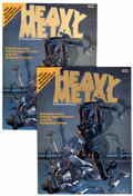 Magazines:Science-Fiction, Heavy Metal #1 Group of Two (HM Communications, 1977) Condition:Qualified VF+.... (Total: 2 Comic Books)