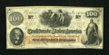 Confederate Notes:1862 Issues, T41 $100 1862 PF-21 Cr. UNL.. ...