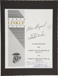 Autographs:Celebrities, Charlie Duke and Alan Shepard: Signed Admiral Farragut AcademyTexas Alumni Reunion Program from the Personal Collection of Ch...