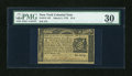 Colonial Notes:New York, New York March 5, 1776 $1/4 PMG Very Fine 30....