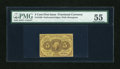 Fractional Currency:First Issue, Fr. 1228 5c First Issue PMG About Uncirculated 55....