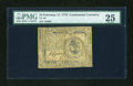 Colonial Notes:Continental Congress Issues, Continental Currency February 17, 1776 $3 PMG Very Fine 25....