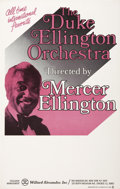 Music Memorabilia:Posters, Duke Ellington Orchestra with Mercer Ellington Concert Poster (c.1980)....