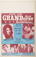 Music Memorabilia:Posters, Grand Ole Opry Road Show Window Card Poster (c. 1970s)....