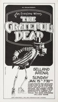 Music Memorabilia:Posters, Grateful Dead Selland Arena Concert Poster (Bill Graham, 1977)....