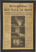 Autographs:Celebrities, Neil Armstrong Signed New York Times Front Page, July 21, 1969....