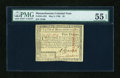Colonial Notes:Massachusetts, Massachusetts May 5, 1780 $5 Uncancelled PMG About Uncirculated 55 EPQ....
