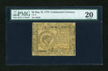 Colonial Notes:Continental Congress Issues, Continental Currency May 10, 1775 $8 PMG Very Fine 20....