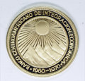 Central American Union: , Central American Union: Gold 50 Pesos 1970, type as previous, KM-X1, choice cameo Proof in the wallet of issue.. From the Marrero Family Collectio...