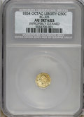 California Fractional Gold: , 1854 50C Liberty Octagonal 50 Cents, BG-305, Low R.4--ImproperlyCleaned--NCS. AU Details. NGC Census: (0/12). PCGS Populat...