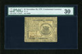 Colonial Notes:Continental Congress Issues, Continental Currency November 29, 1775 $1 PMG Very Fine 30....