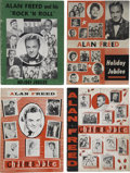 Music Memorabilia:Memorabilia, Alan Freed Vintage Program Books (1952-57).... (Total: 4 Items)