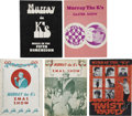 Music Memorabilia:Memorabilia, Murray the K Vintage Program Books.... (Total: 5 Items)