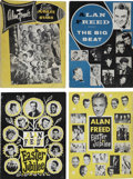 Music Memorabilia:Memorabilia, Alan Freed Vintage Set Of Four Program Books (1955-59).... (Total: 4 Items)