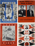 Music Memorabilia:Memorabilia, Alan Freed Vintage Program Books (1955-59).... (Total: 4 Items)