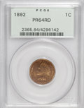 Proof Indian Cents: , 1892 1C PR64 Red PCGS. PCGS Population (49/57). NGC Census: (16/30). Mintage: 2,745. Numismedia Wsl. Price for NGC/PCGS coi...