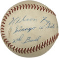 Autographs:Baseballs, 1950's Nellie Fox Single Signed Baseball....