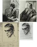 Movie/TV Memorabilia:Photos, Boris Karloff 1930s Portraits and Sketch by Nocolai Fechin. ...