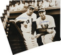 Autographs:Others, 1990's Ted Williams & Joe DiMaggio Signed Large Photographs Lotof 5....