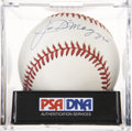 Autographs:Baseballs, Joe DiMaggio Single Signed Baseball, PSA NM-MT+ 8.5....
