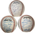 Autographs:Baseballs, 1984-88 Chicago Cubs and San Francisco Giants Team Signed BaseballsLot of 3.... (Total: 3 items)